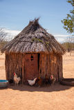 Indigenous African Wooden Hut of Himba with Chicken Royalty Free Stock Photo