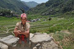 Indigenous Aged Man. Indigenous senior citizen of the mountains in Southeast Asia Royalty Free Stock Photography