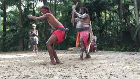 Indigenous Australian Aboriginal People Dancing