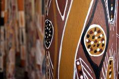 Free Indigenous Australian Art Dot Painting On Didgeridoo Stock Photos - 141227173