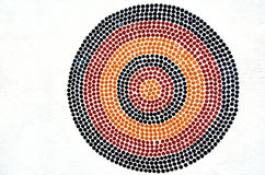 Indigenous Australian art Dot painting. It's one of the oldest traditional form of art in the world. Paint marks to tell Aboriginal myths and legends Royalty Free Stock Photos