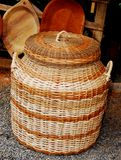 Indigenous Basket. Beautiful basket made by the indigenous people of costa rica which is traditionaly used to store food Royalty Free Stock Photography