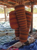 Indigenous Basket Weaving. Indigenous Weaving with pandanus, Northern Territory, Australia Royalty Free Stock Photos