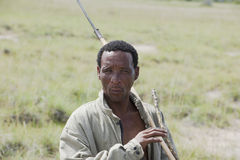 Indigenous Bushman in Africa Royalty Free Stock Images