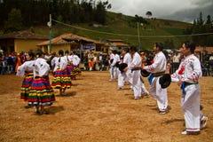 Indigenous community celebrating Inti Raymi, Inca