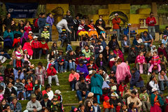 Indigenous community celebrating Inti Raymi, Inca Royalty Free Stock Photography