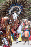 Indigenous dancer in Mexico. March 6,2016, San Miguel de Allende, Mexico: the Senior de la Conquista yearly celebration is marking the acceptance of Chritianity Royalty Free Stock Photos