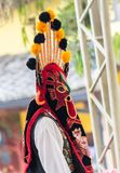Indigenous dancers of Ecuador royalty free stock photo
