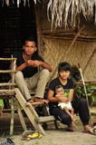 Indigenous family of Orang asli indigenous people Royalty Free Stock Photo