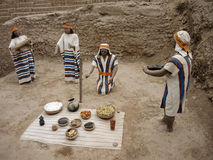 Indigenous figures in Lima, Peru. Royalty Free Stock Images
