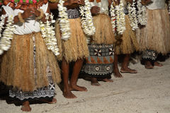 Indigenous Fijian people sing and dance in Fiji Stock Images