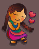 Indigenous girl in love Royalty Free Stock Photos