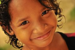 Indigenous girl smiling Royalty Free Stock Image