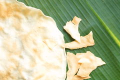Indigenous grilled rice cracker Stock Image