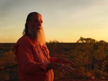 Indigenous Guide at Sunrise, Australian Outback