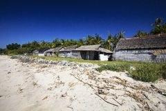 Indigenous houses on the coast, Nusa Penida, Indonesia Royalty Free Stock Photos