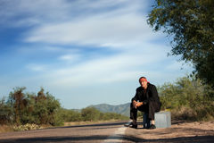 Indigenous man by the side of the road Royalty Free Stock Photography