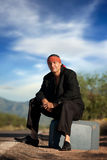 Indigenous man by the side of the road Royalty Free Stock Photo