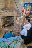 Traditional midwive in Ecuador stock photos