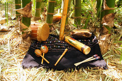 Indigenous musical instruments Stock Photo