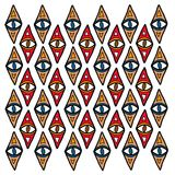 Indigenous pattern. Indigenous ceremonial pattern - aboriginal tribal ethnic background Stock Photography