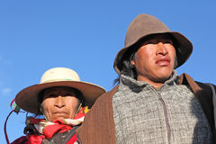 Indigenous people, Andes mountains Stock Photos
