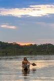 Indigenous People Cuyabeno Ecuador National Park Royalty Free Stock Image