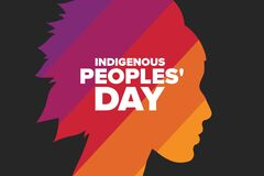 Free Indigenous Peoples Day. Holiday Concept. Template For Background, Banner, Card, Poster With Text Inscription. Vector Stock Photography - 196684842