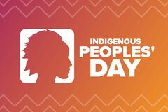 Free Indigenous Peoples Day. Holiday Concept. Template For Background, Banner, Card, Poster With Text Inscription. Vector Royalty Free Stock Image - 196685036