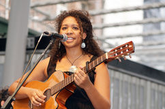 Indigenous Singer Georgia Corowa Stock Photos