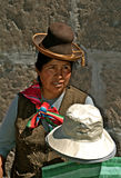 Indigenous street vendor, Arequipa Stock Photos