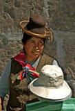 Indigenous street vendor, Arequipa stock photos