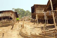 Indigenous tribal culture of Akha tribe village, Pongsali, Laos Stock Photography