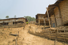 Indigenous tribal culture of Akha tribe village, Pongsali, Laos Royalty Free Stock Photography