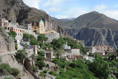 The indigenous village of Iruya. On the argentina andes Royalty Free Stock Images