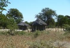 Indigenous village at makgadikgadi Royalty Free Stock Images