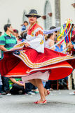 Indigenous Woman Dancing On The Street Royalty Free Stock Photography