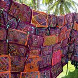Needlework of Kuna women, traditional art work, Panama, Molas Royalty Free Stock Photo