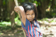Indigenouse Girl Amazonia Royalty Free Stock Photo