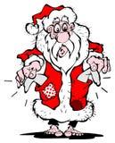 Indigente il Babbo Natale Fotografia Stock