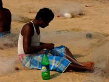 Indigente locale in India Fotografie Stock