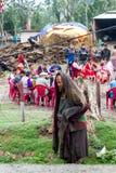 Indigente o mendicante al partito Fotografia Stock