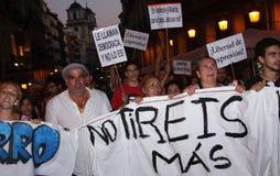 Indignados à Madrid Photos stock