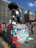 indignados Madrid zajmują zolu kwadrat Obrazy Royalty Free