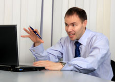 Indignant businessman Stock Photography