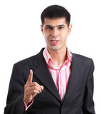 Indignant young businessman Royalty Free Stock Photography