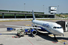 Indigo Airbus A320 Royalty Free Stock Images