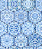 Indigo Blauwe Tegel royalty-vrije illustratie
