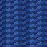 Indigo blue abstract organic waves stripes. Vector gradient pattern seamless background. Hand drawn wavy lines graphic. Blue abstract organic waves stripes vector illustration