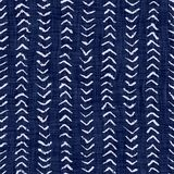 Indigo blue batik dyed effect texture background. Seamless japanese repeat pattern swatch. Herringbone blockprint motif